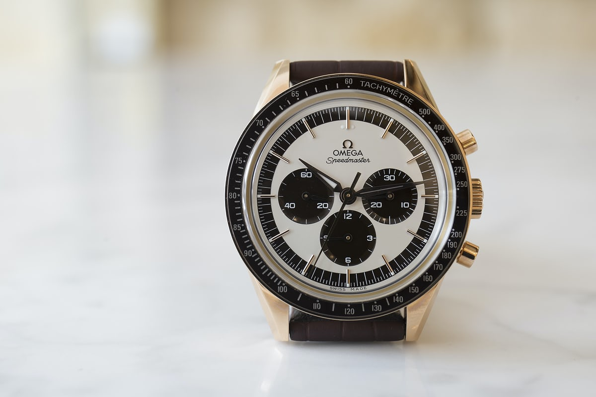 If you ignore the Speedmaster's reason for being, you have to admit this is pretty terrific looking.