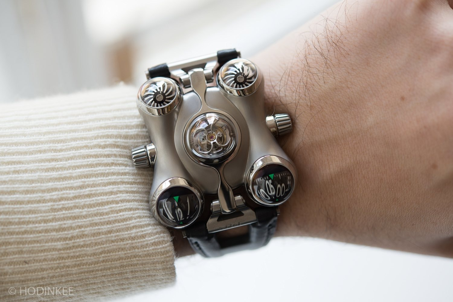 mb&f hm6 wristshot Introducing: The MB&F HM6 Alien Nation (Live Pics + Pricing) Introducing: The MB&F HM6 Alien Nation (Live Pics + Pricing) hm6