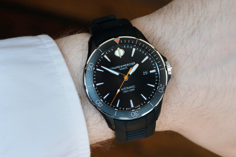 baume and mercier clifton club all black