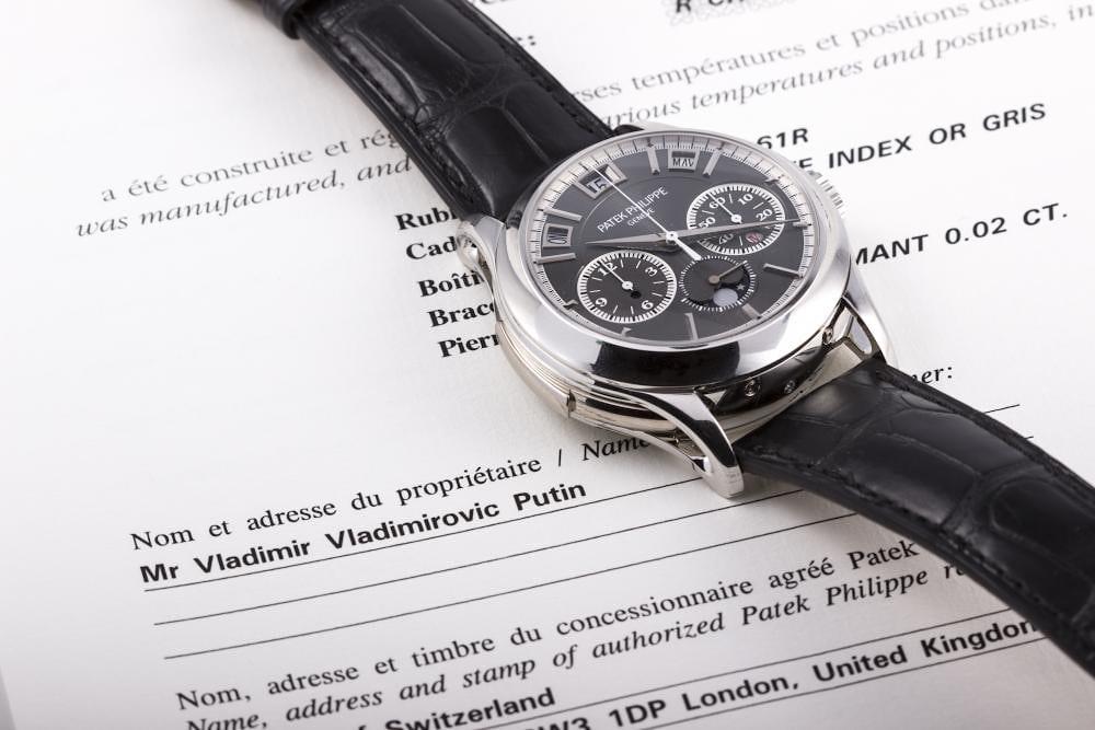 Found Vladimir Putin S Patek Philippe 5208p Grand Complication For Sale At Antiquorum Hodinkee