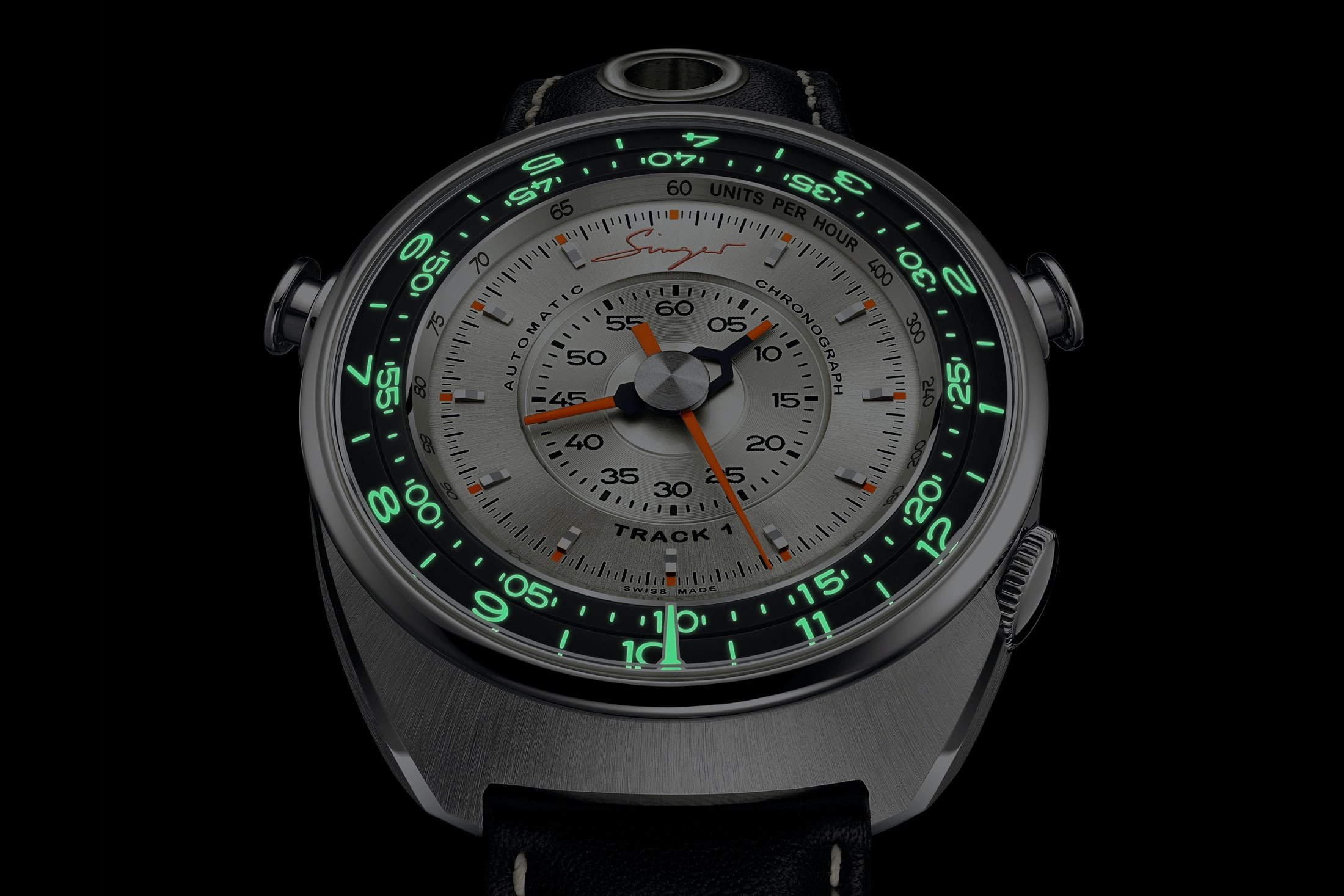 singer track1 chronograph lume shot Introducing: The Singer Track1 Chronograph, Featuring The AgenGraphe Caliber By Jean-Marc Wiederrecht Introducing: The Singer Track1 Chronograph, Featuring The AgenGraphe Caliber By Jean-Marc Wiederrecht singer 02