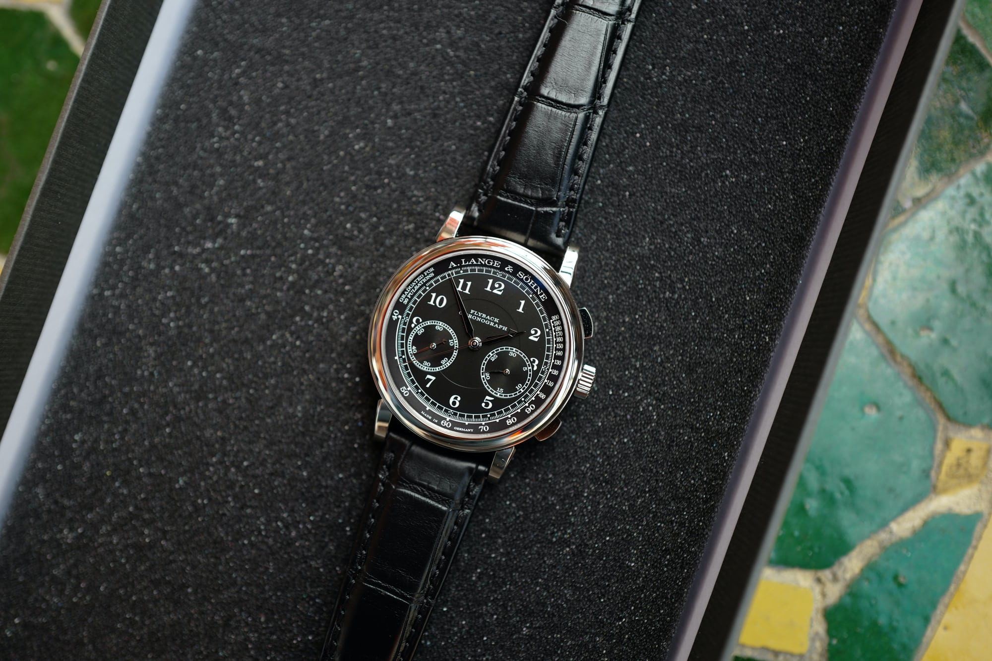 a7f9aa75196 Introducing  The A. Lange   Söhne 1815 Chronograph With Black Dial (Live  Pics   Pricing) - HODINKEE