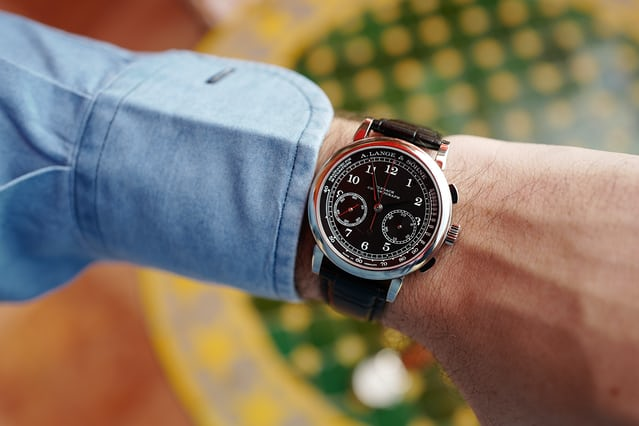 1815 chronograph black on the wrist.