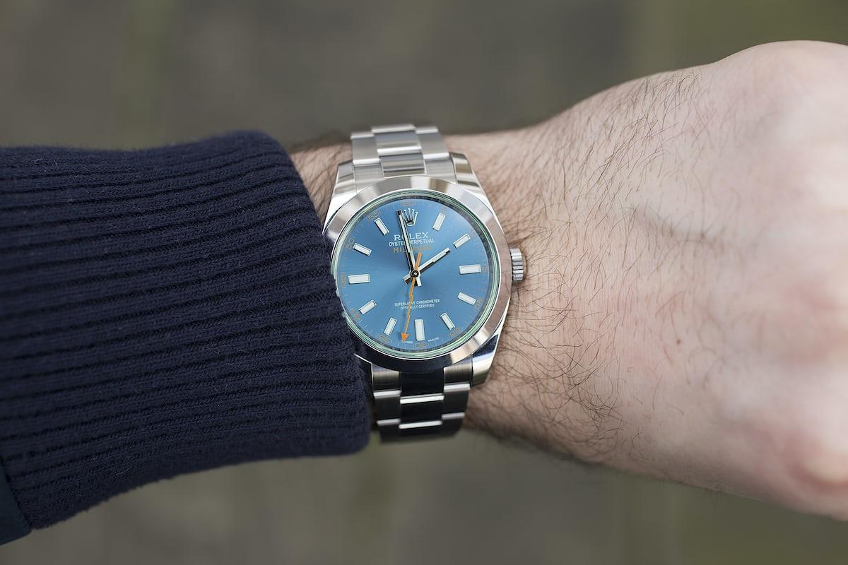 In depth the rolex milgauss z blue edition hodinkee for Rolex milgauss