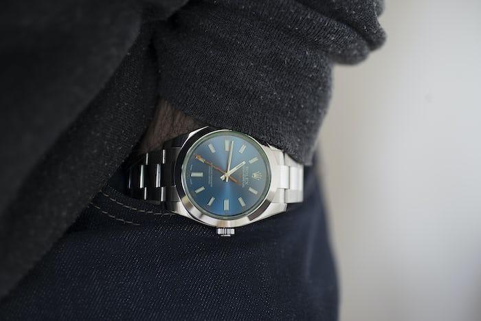 rolex milgauss z-blue wristshot