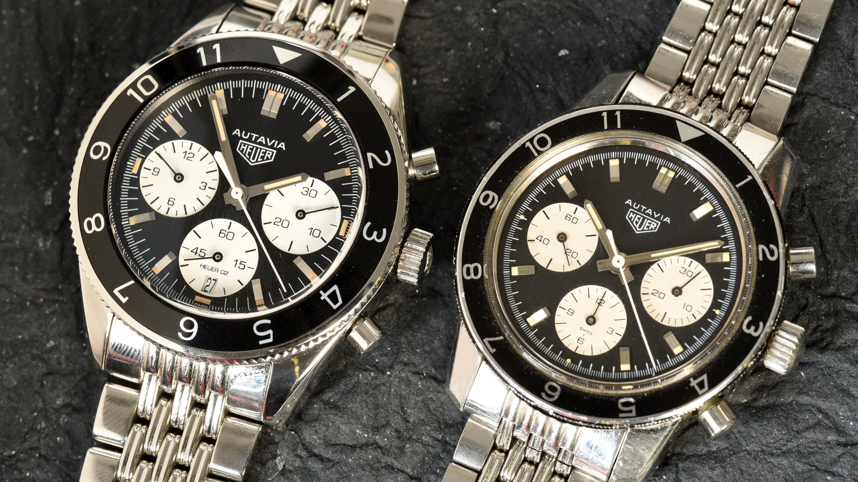 tag heuer autavia 2017 comparison vintage Interview: Heuer Expert Jeff Stein's Take On The 2017 TAG Heuer Autavia Interview: Heuer Expert Jeff Stein's Take On The 2017 TAG Heuer Autavia 02Aut2017and2446C2880
