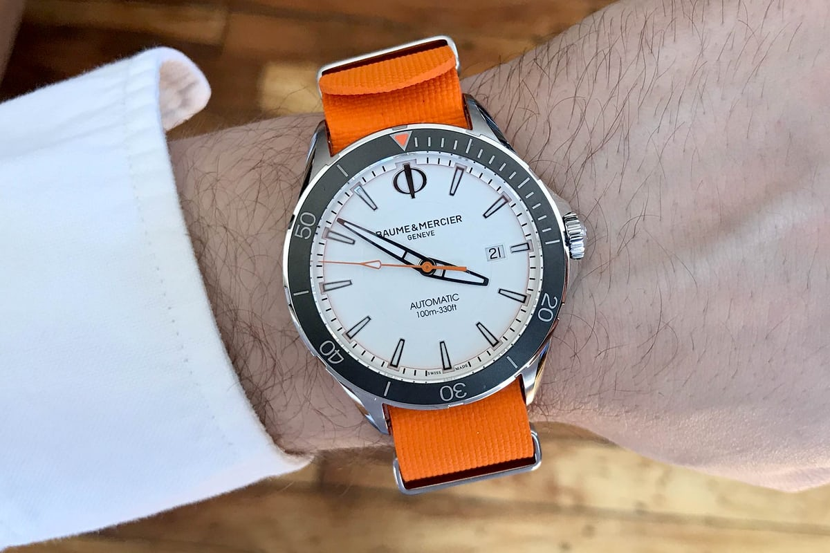 baume and mercier clifton club wristshot