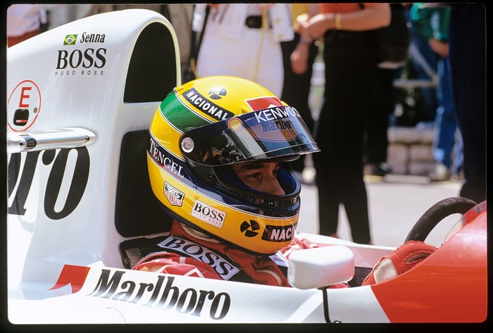 Ayrton Senna at the Monaco Grand Prix