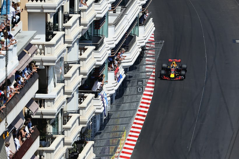 Red Bull Racing on the track, Monaco Grand Prix