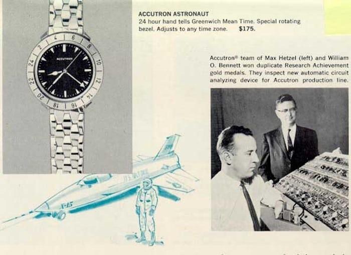 Vintage Bulova Accutron ad