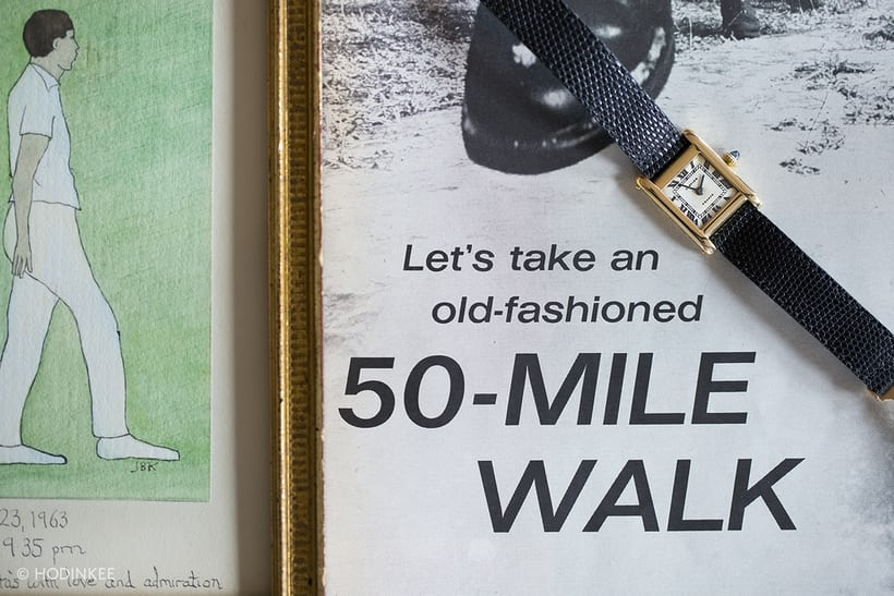 Jacqueline Kennedy Cartier Tank and 50 Mile Walk