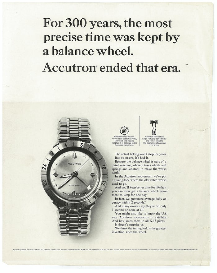 Accutron Astronaut advertisement