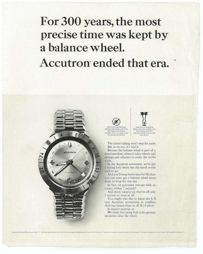 Accutron Astronaut advertisement