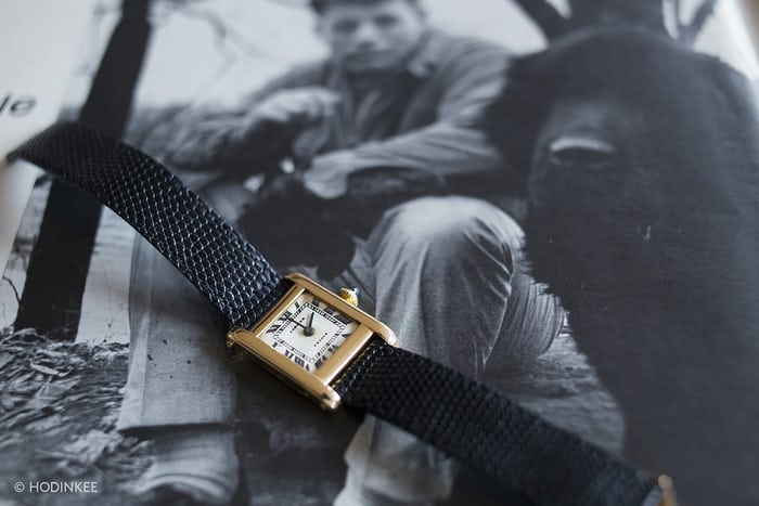 Jacqueline Kennedy Cartier Tank with JFK portrait