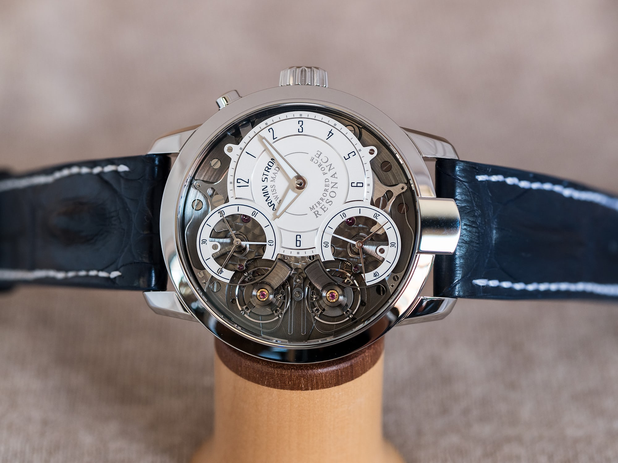 """Armin Strom Mirrored Force Resonance """"Water"""" dial side"""