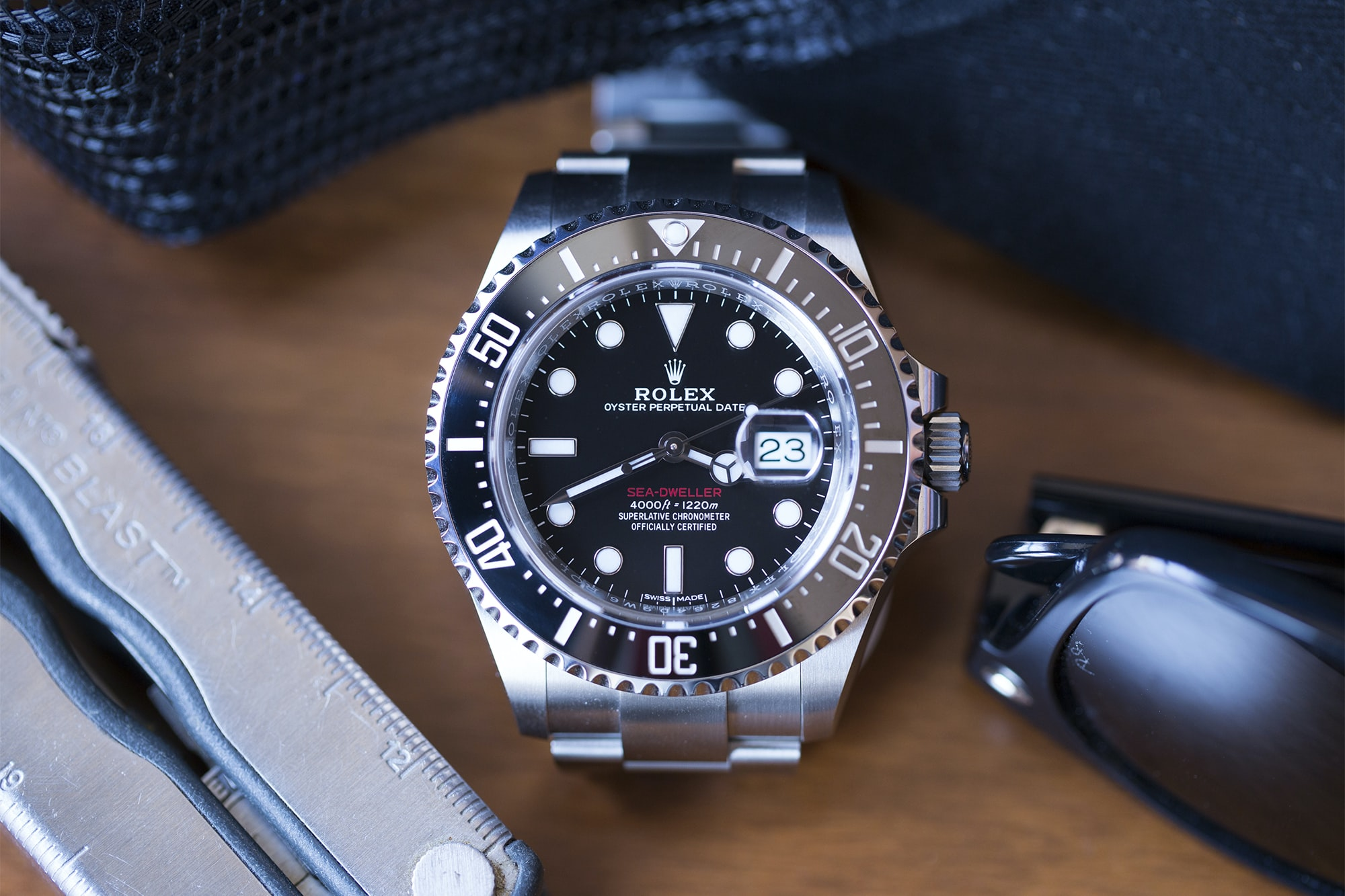 Rolex Sea-Dweller 126600 dial and accessories A Week On The Wrist: The Rolex Sea-Dweller Reference 126600 A Week On The Wrist: The Rolex Sea-Dweller Reference 126600  20011560 copy
