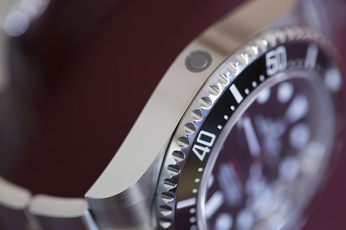 Rolex Sea-Dweller helium escape valve.