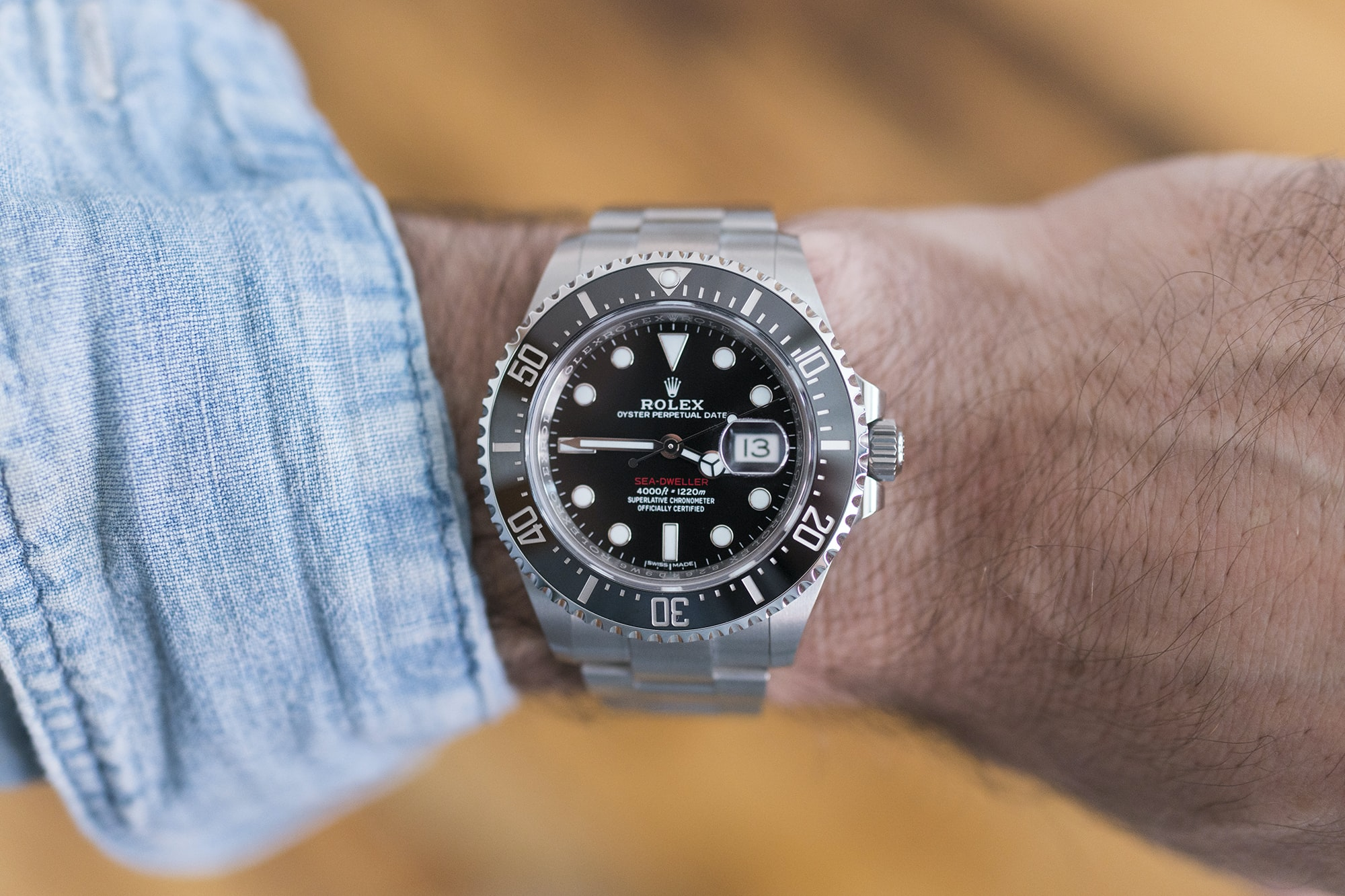 Rolex Sea-Dweller Ref. 126600 wrist shot A Week On The Wrist: The Rolex Sea-Dweller Reference 126600 A Week On The Wrist: The Rolex Sea-Dweller Reference 126600  DSC00038 copy