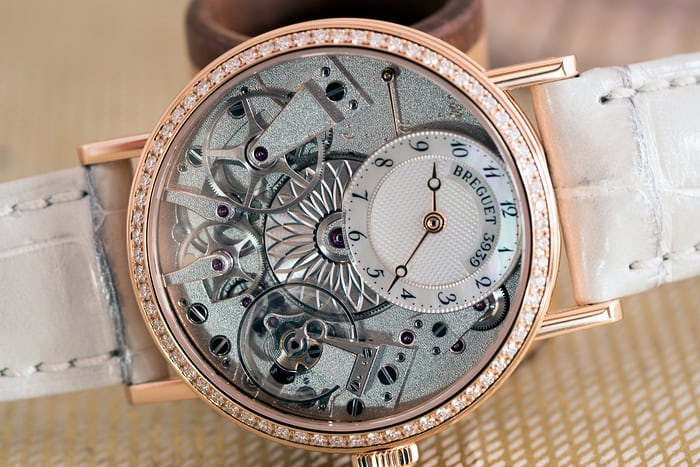 Breguet Tradition Dame 7038 dial side closeup