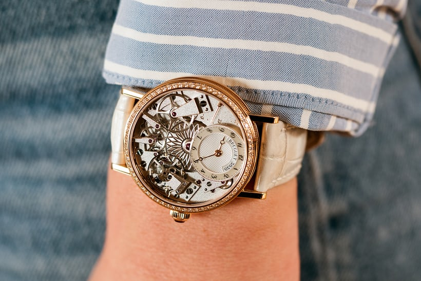 Breguet Tradition Dame 7038 wrist shot