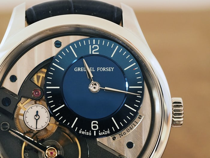 hands and dial, Greubel Forsey Signature 1 steel