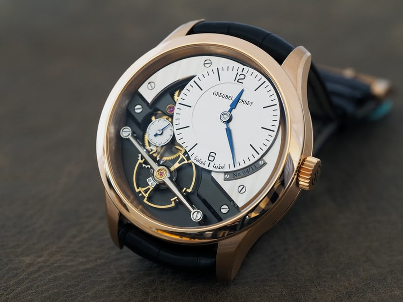 steel and rose gold Greubel Forsey Signature 1