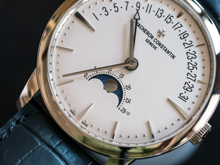 Vacheron Constantin Patrimony Moon Phase And Retrograde Date moonphase disk
