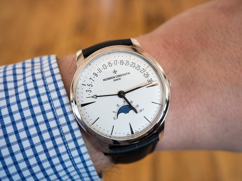 Vacheron Constantin Patrimony Moon Phase And Retrograde Date wrist shot