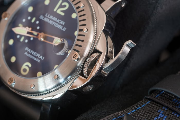 Panerai Luminor Submersible Acciaio PAM00731 locking lever
