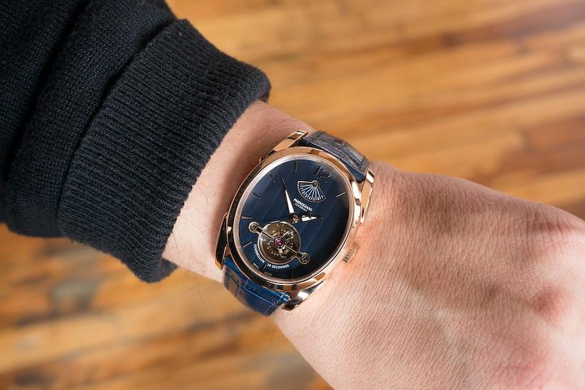 Parmigiani Fleurier Ovale Tourbillon wrist shot