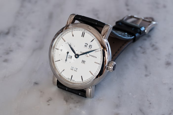 Ulysse Nardin Classic Perpetual Ludwig side view