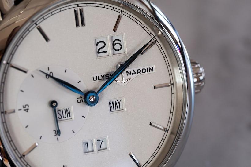 Ulysse Nardin Classic Perpetual Ludwig dial closeup