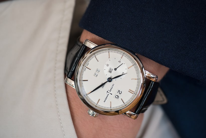 Ulysse Nardin Classic Perpetual Ludwig wrist shot
