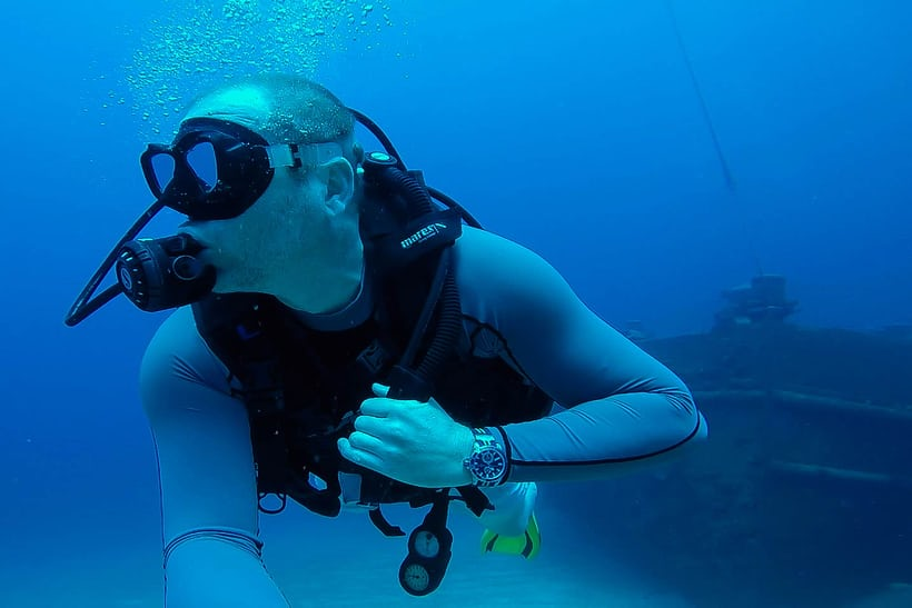 jason heaton ulysse nardin marine diver artemis racing