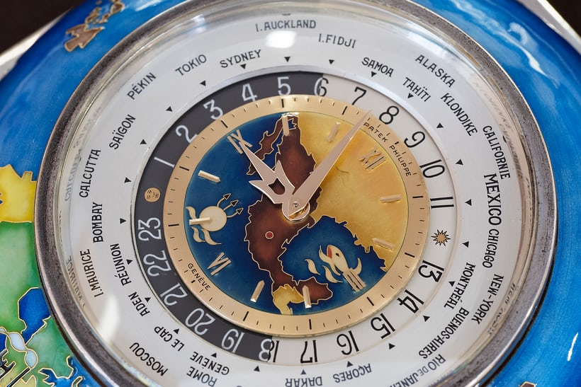 Ref. 828 HU dial showing Mexico and the location of Mexico city