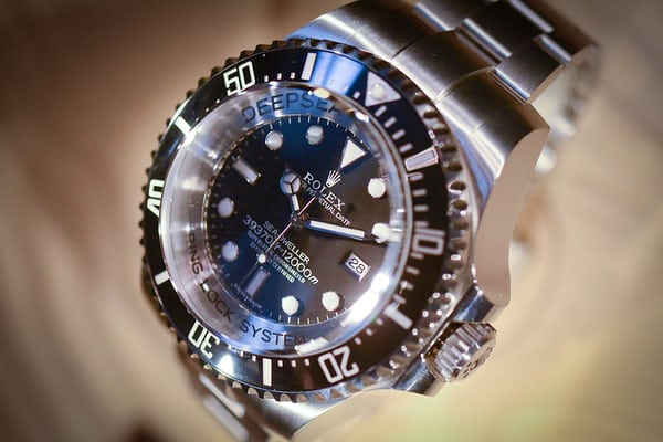 The 2012 Deepsea Challenge (51.4mm x 28.5mm thick – water resistant to 39,370 ft).