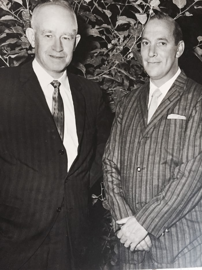 Bulova's Harry Henshel with Omar Bradley