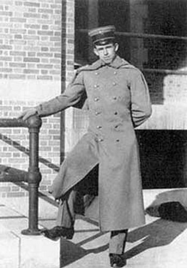 Omar Bradley as a cadet at West Point.