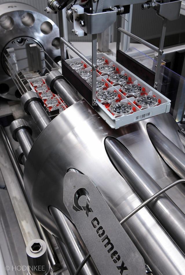 COMEX pressure testing machine at Rolex Geneva