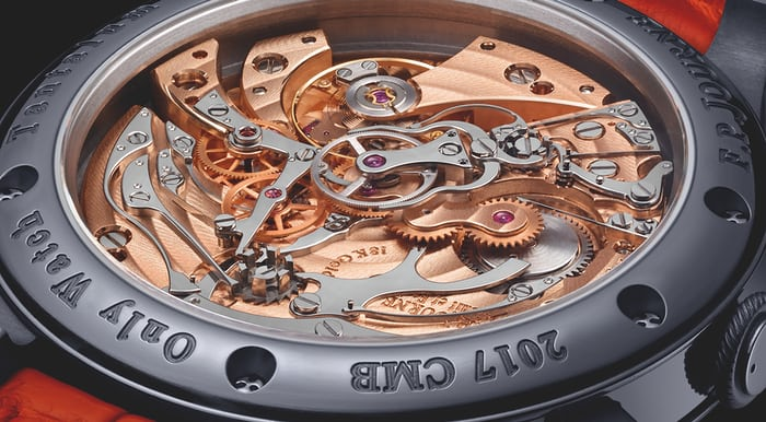 journe rattrapante chronograph movement closeup