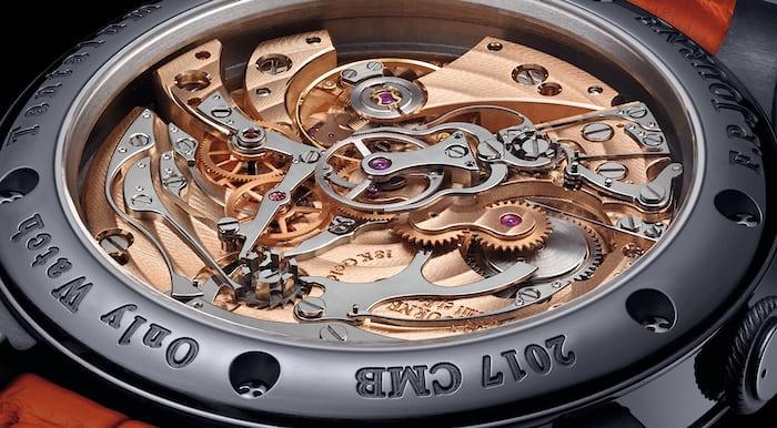 journe rattrapante chronograph movement closeup
