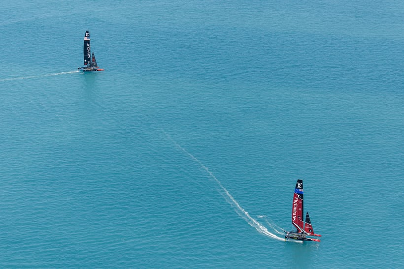 America's Cup 2017, aerial view