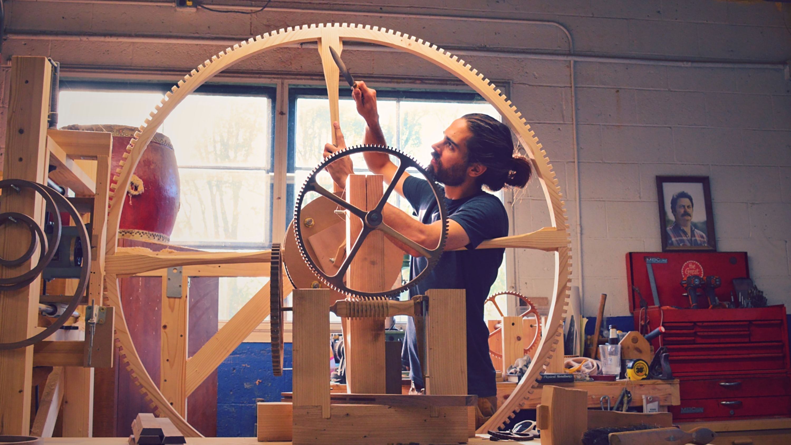 Hero.jpg?ixlib=rails 1.1 introducing: rick hale's incredible large-scale wooden clocks Introducing: Rick Hale's Incredible Large-Scale Wooden Clocks hero