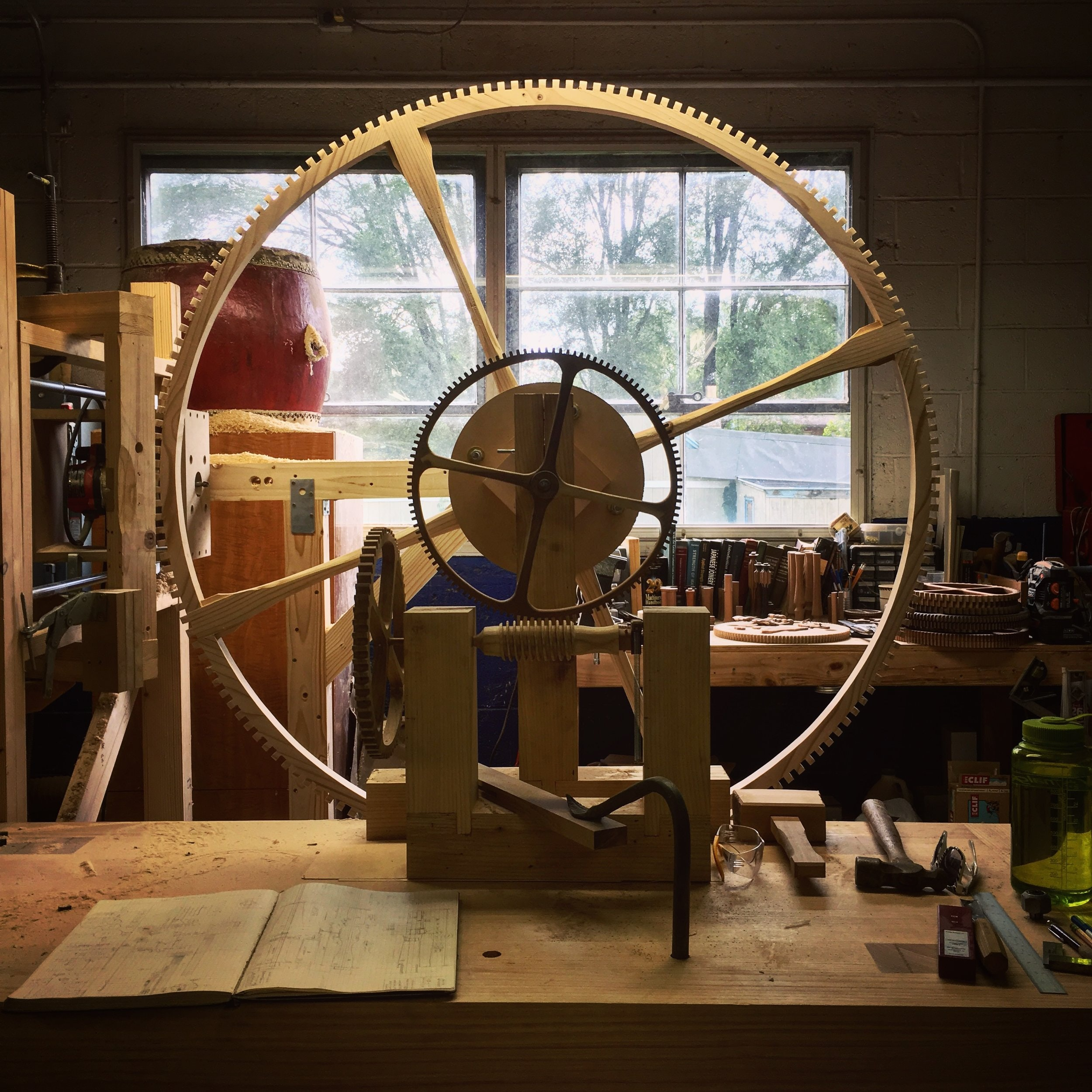 introducing: rick hale's incredible large-scale wooden clocks Introducing: Rick Hale's Incredible Large-Scale Wooden Clocks d11