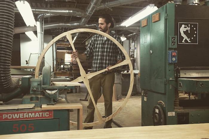 Hale in his workshop in Kalamazoo, Michigan.