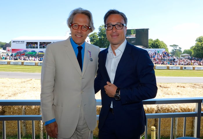 Lord March and Montblanc CEO Nicolas Baretzki