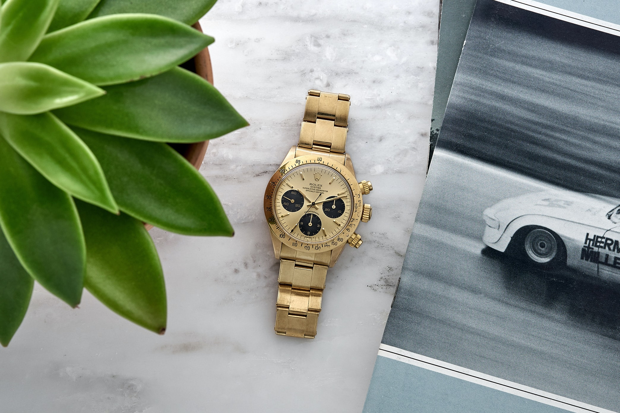 835 rolexdaytona6265 landscape.jpg?ixlib=rails 1.1 in the shop: a 1978 rolex daytona ref. 6265 in 14k yellow gold, a 1960s heuer carrera ref. 3647n, and a 1940s universal genve compax In The Shop: A 1978 Rolex Daytona Ref. 6265 In 14K Yellow Gold, A 1960s Heuer Carrera Ref. 3647N, And A 1940s Universal Genve Compax 835 RolexDaytona6265 LANDSCAPE