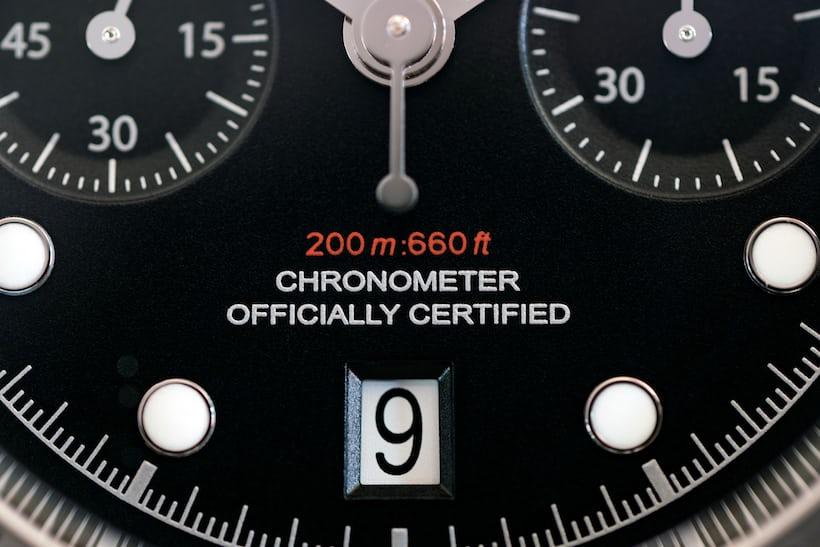 Tudor Black Bay Chronograph dial closeup