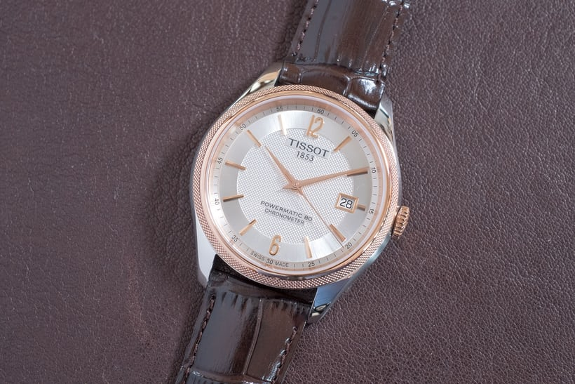 tissot powermatic 80 ballade two tone rose gold steel