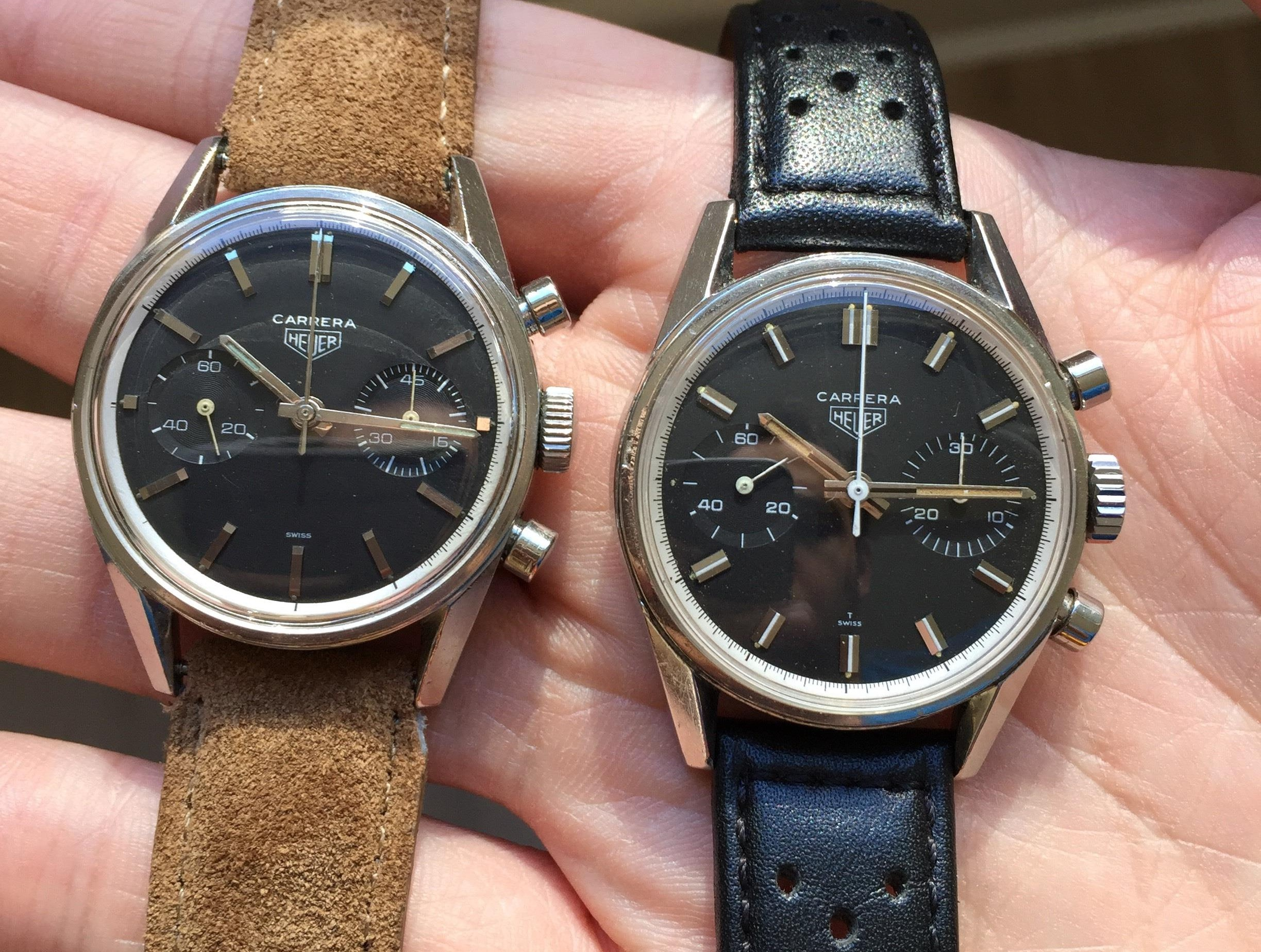 Heuer Carrera comparison Recommended Reading: Two Early Heuer Carreras Go Head-To-Head Recommended Reading: Two Early Heuer Carreras Go Head-To-Head Heuer comparison